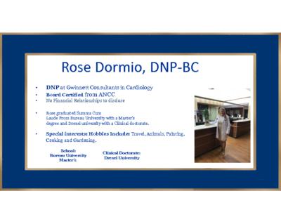 Heart Failure-Rose Dormio, DNP-BC