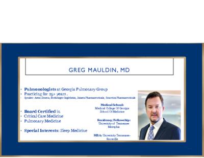 OSA, Killing Me Loudly- Greg Mauldin,MD