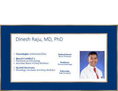 Cryptogenic Stroke – Dinesh Raju MD, PhD
